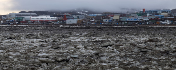 a Iqaluit seen from frobisher bay