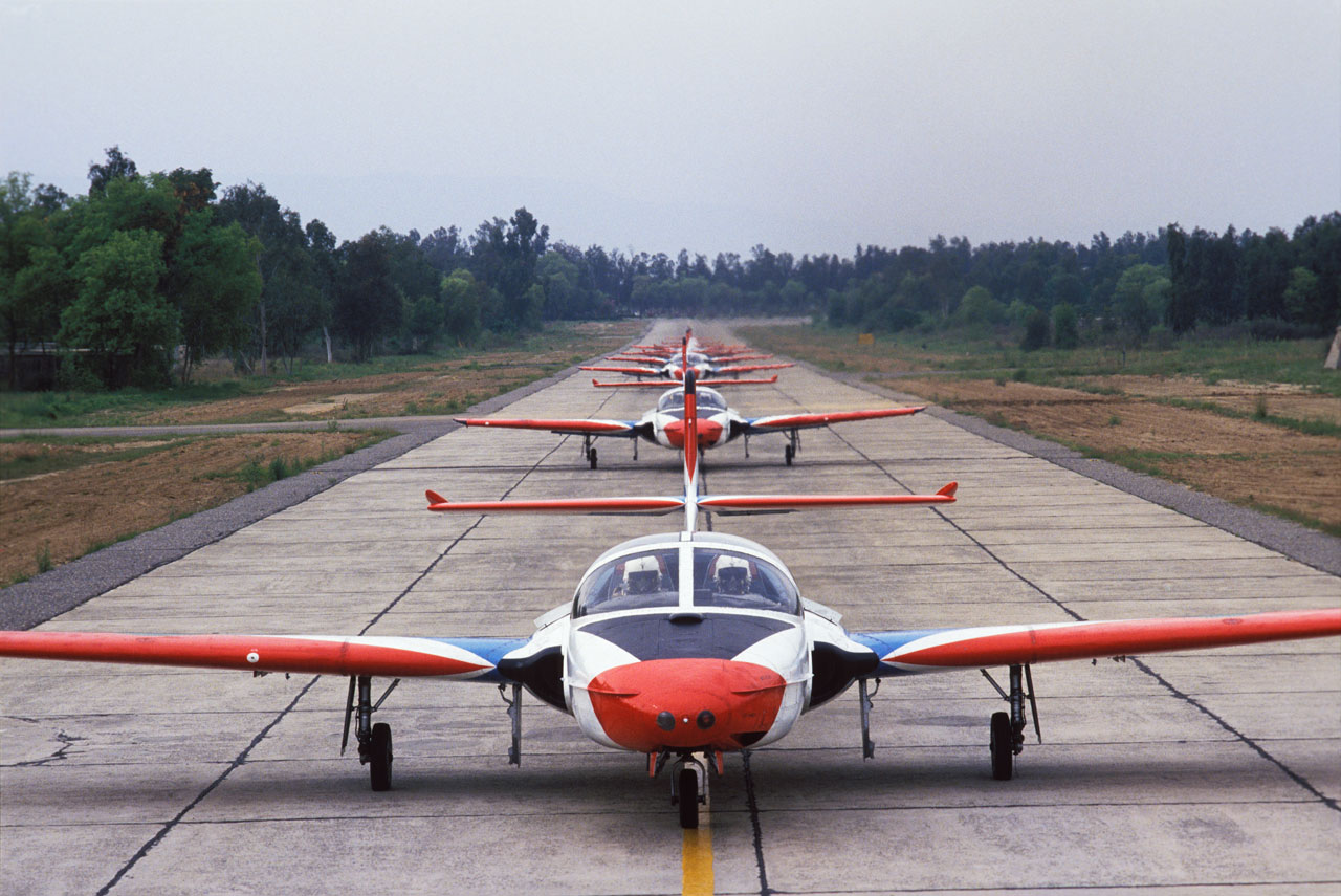 Trainers Lining up for take-off